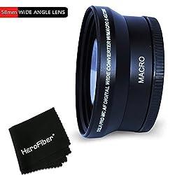Pro 58mm Wide Angle Lens Attachment For 58mm Thread Lenses & For Canon Eos 70d 60d 60da 7d 6d 5d 7d Mark Ii Eos Rebel T6i T6s T5 T5i T4i T3 T3i T2i T1i Eos M Eos M2 Eos 750d 700d 650d 600d 550d