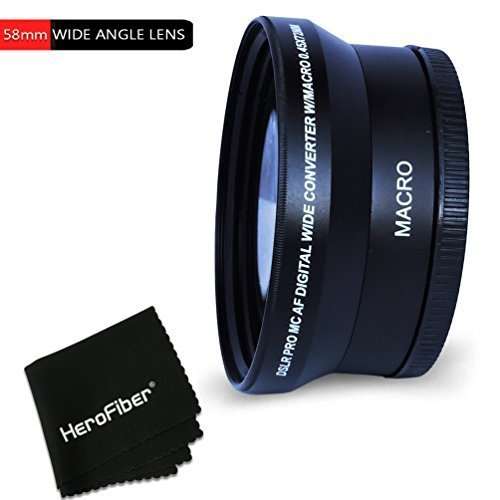 PRO 58mm WIDE ANGLE Lens Attachment for 58mm Thread Lenses