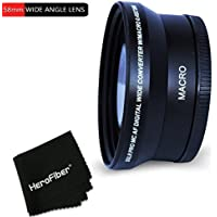 PRO 58mm WIDE ANGLE Lens Attachment for 58mm Thread Lenses and for CANON EOS 70D 60d 60Da 7D 6D 5D 7D Mark II EOS REBEL T6i T6S T5 T5i T4i T3 T3i T2i T1i EOS M EOS M2 EOS 750D 700D 650D 600D 550D