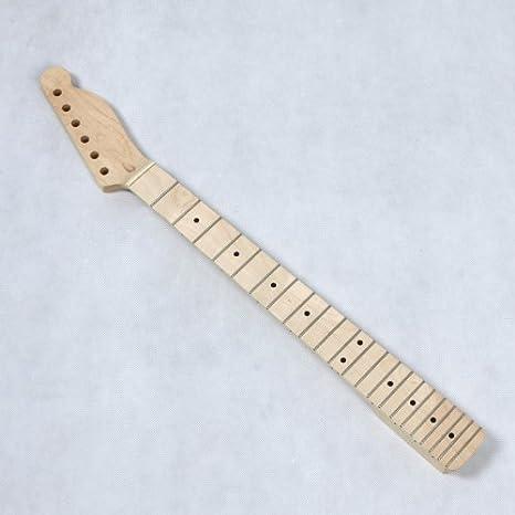 Mástil de madera de arce de repuesto douself diapasón de 22 trastes para TL guitarra eléctrica estilo Tele: Amazon.es: Instrumentos musicales