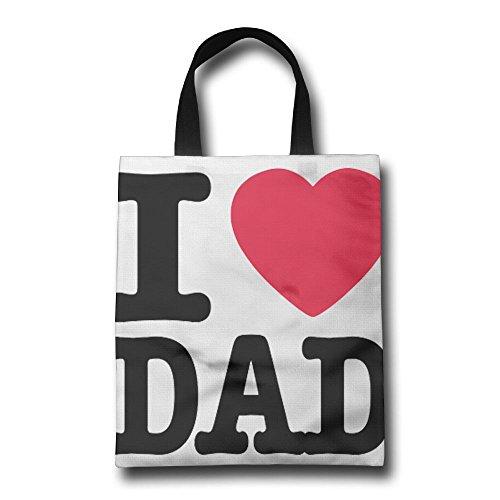 GJOHKRT Bolsas para Asas de la Compra, Personalizables, Diseño de I Love Dad