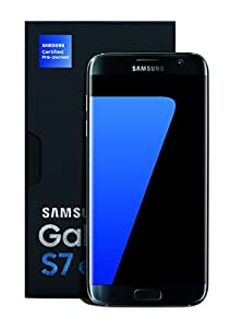 "Samsung Galaxy S7 Edge Certified Pre-Owned Factory Unlocked Phone - 5.5"" Screen - 32GB - Titanium (U.S. Warranty)"