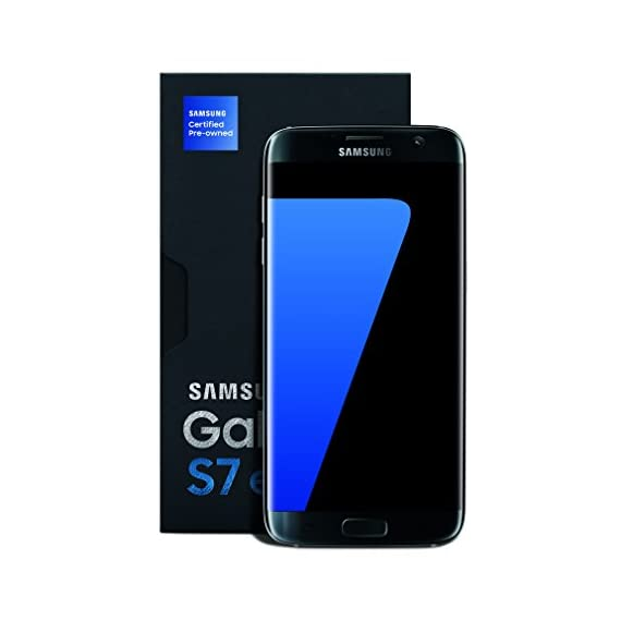 - 41Ht9Um356L - Samsung Galaxy S7 Edge Certified Pre-Owned Factory Unlocked Phone – 5.5″ Screen – 32GB – Titanium (1 Year Samsung U.S. Warranty)