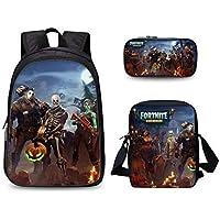 Three-piece backpack Game Fortnite schoolbag set fashion waterproof brave boys and girls handbag crossbody bag