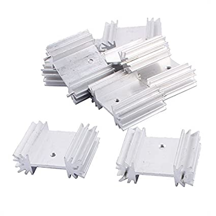 eDealMax aluminio amplificador de potencia del disipador de calor del disipador de calor del radiador 8pcs