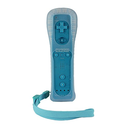 Eeoo New Remote and Nunchuck Controller Built-in Motion Plus Sensor For Wii Game SKYBLUE