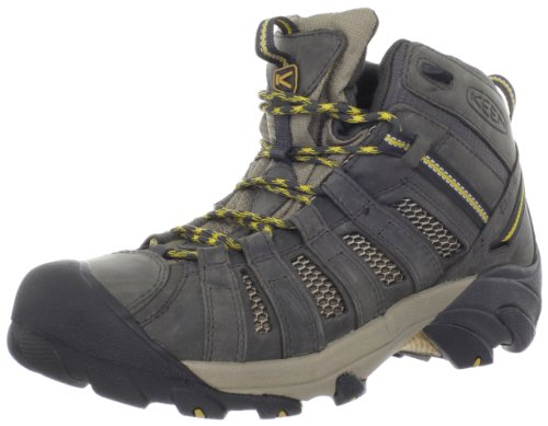 KEEN Men's Voyageur Mid Hiking Boot,Raven/Tawny Olive,13 M US