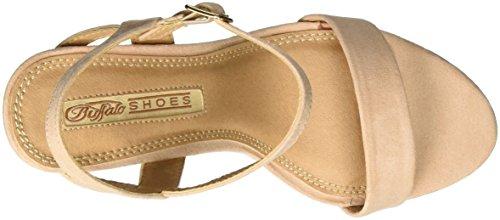Buffalo Shoes 314258 Imi Suede Bhwmd A16, Sandalias con Cuña para Mujer Beige (NUDE 01)
