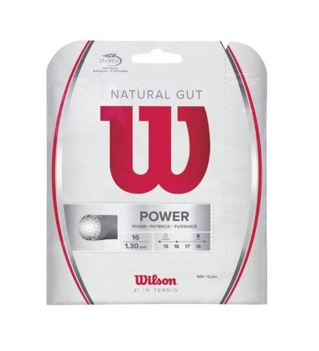 Wilson Sporting Goods Gut Power String Set, Natural, 16-Guage/40-Feet