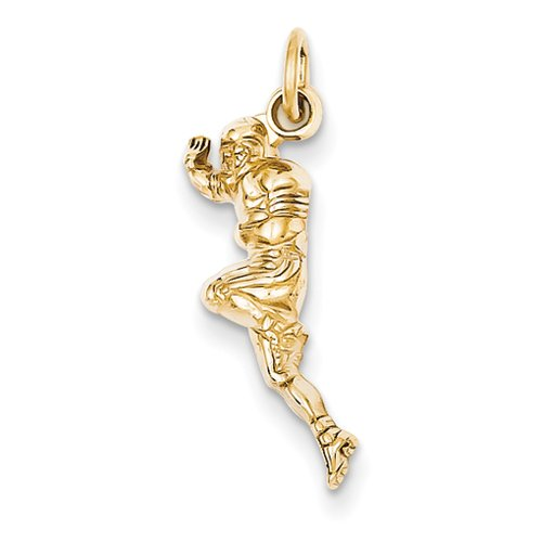 (14k Yellow Gold Football Player Charm)