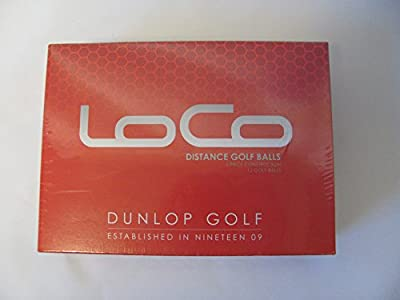 DUNLOP D GB Loco Distance Golf Balls (Pack of 12)