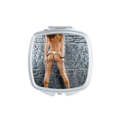 Tattoo Pipe Dancing Hot Sexy Bikini Nude Back Girl Ass Butt Gal Lady Square Compact Makeup Pocket Mirror Portable Cute Small Hand Mirrors - Mirror Nude Babes