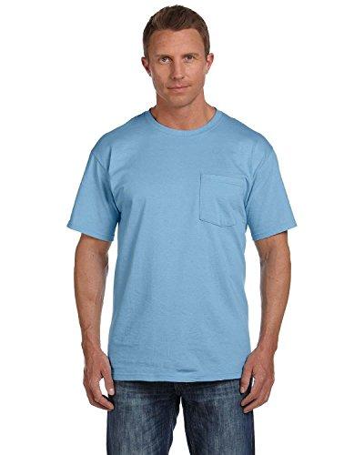 Fruit of the Loom 5.6 oz. Heavy Cotton Pocket T-Shirt>2XL LIGHT BLUE (Fruit Of The Loom Chest Pocket T-shirt)