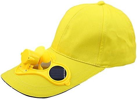 Gorra de Ventilador de Energía Solar con 2 Panel Solar para Ciclismo Pesca Béisbol Golf Deporte (Color : Amarillo) : Amazon.es: Deportes y aire libre