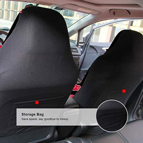 Anime Cool Naruto Uzumaki Auto Seat Protector Replacement Cushion for Girl Back Pain Relief Cars Upholstery Cold Weather Anti-Slip Comfortable Car Seat Covers