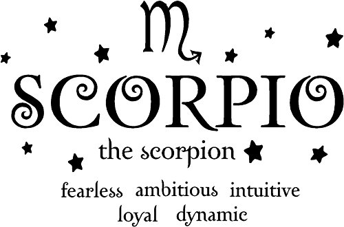 Scorpion horoscope vinyl wall decal
