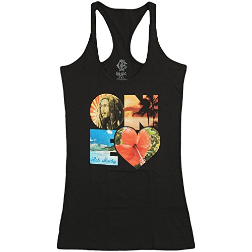 Bob Marley Women's One Heart Womens Tank Large Black