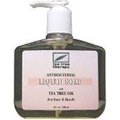 Tea Tree Therapy Antibacterial Liquid Soap, with Tea Tree Oil, 8-Ounces  (Pack of 4)