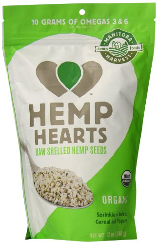 Manitoba Harvest Hemp Seed Nut - Manitoba Harvest Organic Hemp Hearts Raw Shelled Hemp Seeds, 12 Ounce (Pack of 2)