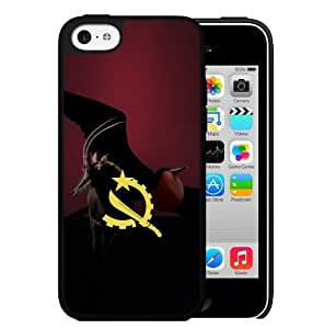 Angola Flag with the National Animal Sable Antelope Hard Snap on Case (iPhone 5c)