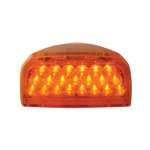 Grand General 77230 Amber 31-LED Peterbilt Headlight Turn Signal Sealed Light with 3 Wires for Front/Park/Turn Functions - 31 Three Light
