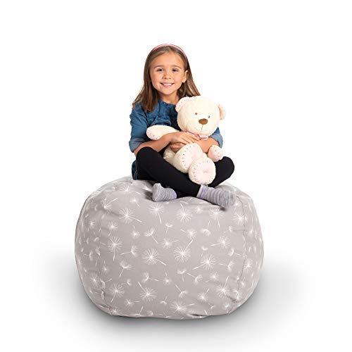 Creative QT Stuffed Animal Storage Bean Bag Chair - Stuff 'n Sit Organization for Kids Toy Storage - Available in a Variety of Sizes and Colors (33