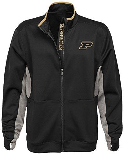 NCAA Purdue Boilermakers Men's First String Full Zip Jacket, Black, Men's XX-Large by Gen 2