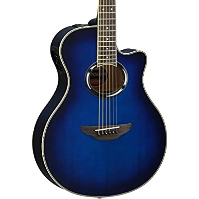 Yamaha APX500III BL Thin Line Acoustic/Electric Cutaway Guitar, Black