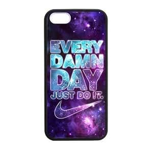 FocEnterprises? iPhone 5 5s Phone Case Cover FLEXIBLE JUST DO IT BRAND LOGO STYLISH NIKE ED HD PATTERN LOGO