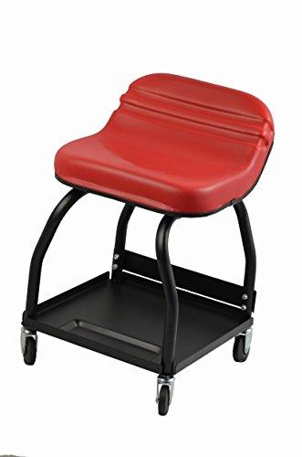 Swivel Mechanics Seat - MaxxHaul 80747 High Rise Padded Roller Creeper Mechanic's Seat with 4 Swivel Castors - 300 lb. Capacity, 1 Pack