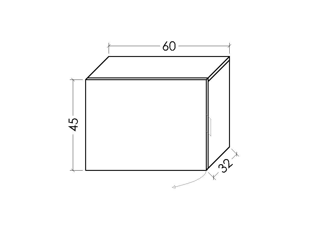 Blanco LOWE Muebles Uno M/ódulo Armario combinable 45 x 32 x 45 cm Madera