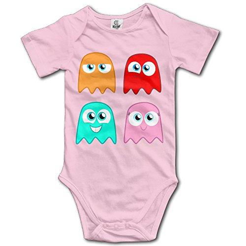 MDSHOP Baby's The Pac-Man Ghosts Hanging Bodysuit Romper Playsuit Outfits Clothes Climbing Clothes Short Sleeve ()
