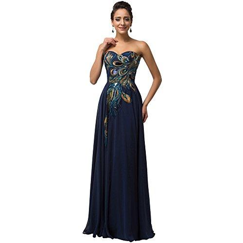 elegante Noche blue Prom vestido Stomacher La Vestido de Vintage Navy Maxi MEI mujer amp;S fiesta Larga HZwtYznxqf