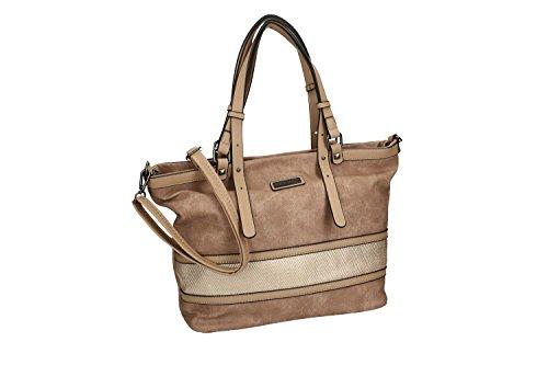 Tasche damen mit Schultergurt PIERRE CARDIN beige mit zip VN1363