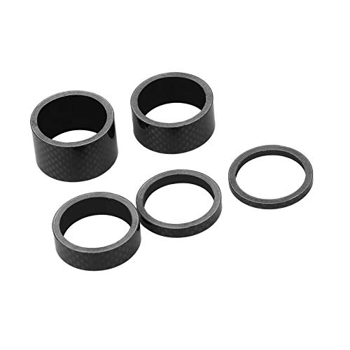 Carbon Fiber 1 1/8 Inch Headset - Yosemire Bicycle Bike MTB Carbon Fiber Washers Headset Spacer 3mm 5mm 10mm 15mm 20mm
