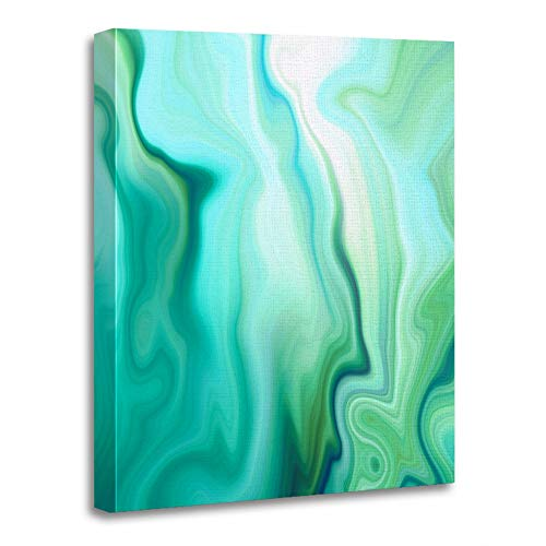 Marbled Agate Paint Liquid Marbling Effect Creative Emerald