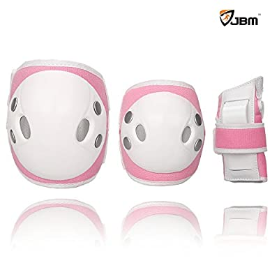 JBM Child Kids Bike Cycling Bicycle Riding Protective Gear Set, Knee and Elbow Pads with Wrist Guards Toddler for Multi-sports Outdoor Activities: Rollerblading, Skating, Football, Volleyball, BMX by Jbm International