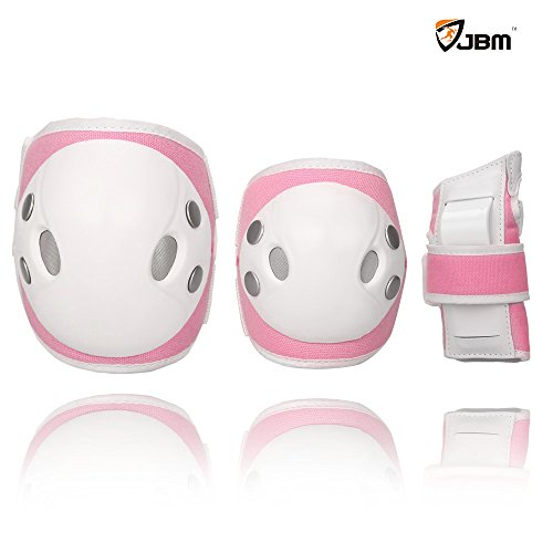 JBM Child Kids Bike Cycling Bicycle Riding Protective Gear Set, Knee and Elbow Pads with Wrist Guards Toddler for Multi-sports Outdoor Actions: Rollerblading, Skating, Football, Volleyball, BMX – DiZiSports Store