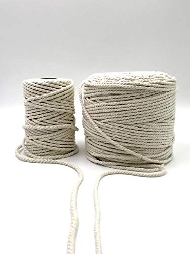 GANXXET Cotton Rope 3.5mm 3PLY - Natural Color