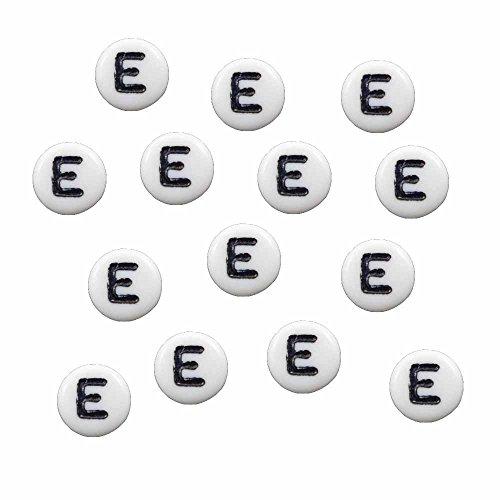 Rockin Beads Brand, 100 White Acrylic Alphabet Letter