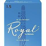 Rico Royal Bb Clarinet Reeds, Strength 1.5, 10-pack