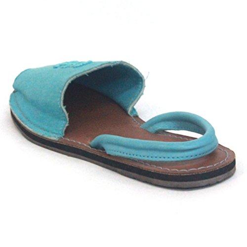 Juicy Couture y pedrería para mujer de ante para patucos, estándar del Reino Unido 3 RRP £85 azul - azul claro