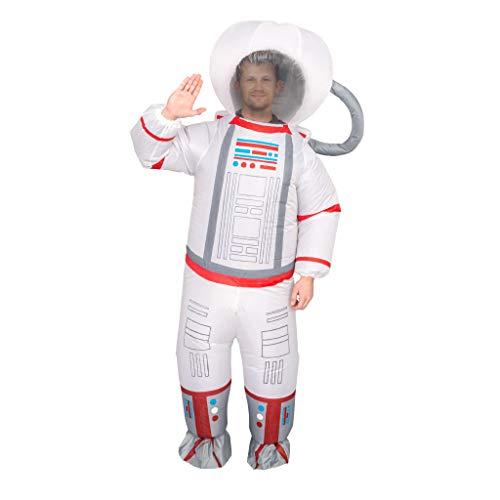 Adult Unisex Astronaut Spaceman Inflatable Chub-Suit Costume Jumpsuit (Adult) White