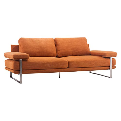 Zuo Modern Jonkoping Sofa Sunkist, Orange