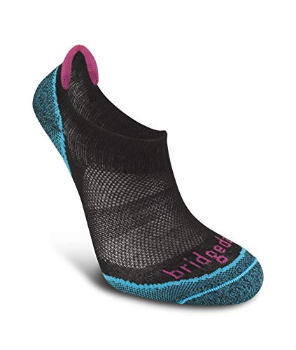 Bridgedale Women's Coolmax Ultra Light Trail Sport - Cool Comfort No Show Socks, Black, Large ()