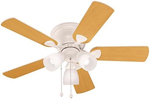 Harbor Breeze Centreville 42-in White Flush Mount Indoor Ceiling Fan with Light Kit
