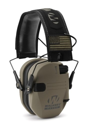 Walker's Razor Patriot Series Electronic Ear Muffs, Flat Dark Earth