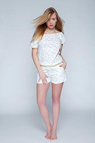 cotone Bianco intero Uccellini in tuta EU 100 Giallo Sensis made in trendy Con Pigiama nYqvYxwgT