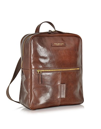 THE BRIDGE HOMME 642350114 MARRON CUIR SAC À DOS