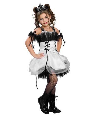 [Rubies Enterprises Ltd. Girls' Gothic Ballerina Costume Multicoloured Medium] (Gothic Ballerina Halloween Costumes)